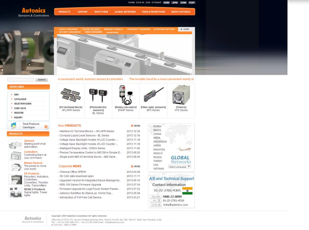 Sensor, Proximity Sensor, Photo sensor,Temperature Controller, Counter, Timer - Autonics (241)