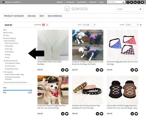 Page Navigation on GoKoCo