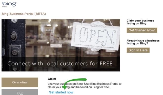 bing local listing
