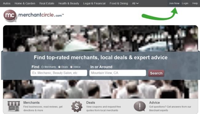 merchant circle local listing