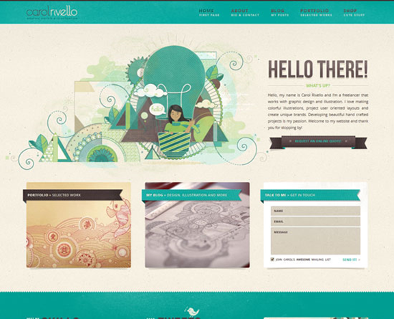web design visual test 5