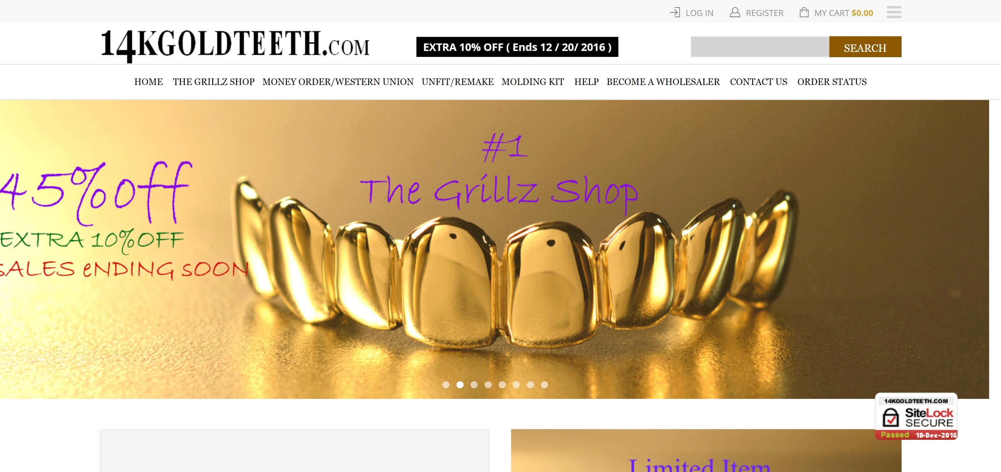 14k Gold Teeth